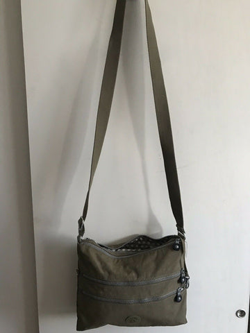 KIPLING Medium Khaki Nylon Crossbody Bag