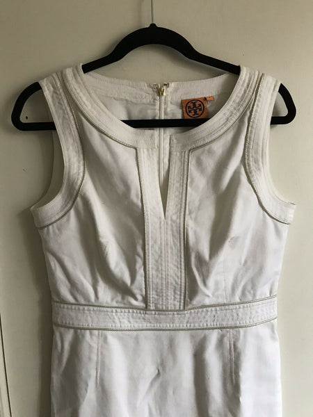 TORY BURCH White Dress Sz 8