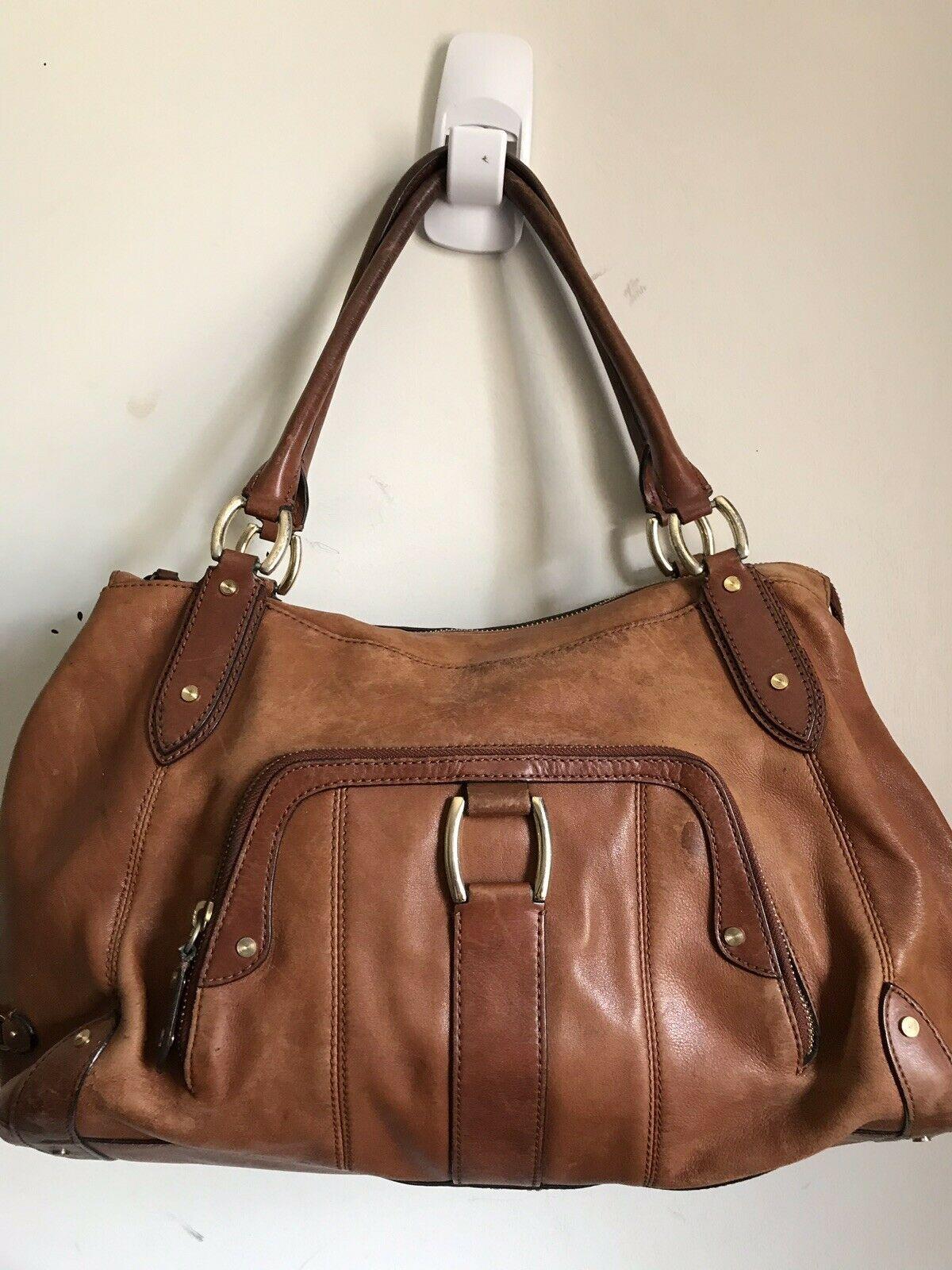 COLE HAAN Tan leather handbag