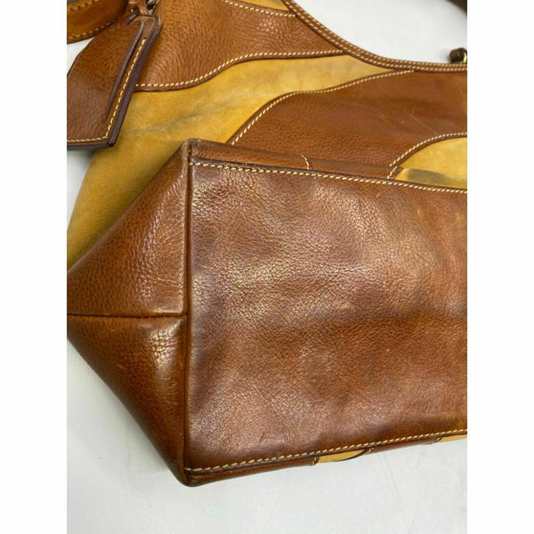 DOONEY & BOURKE Tan Brown Large Leather Tote Bag