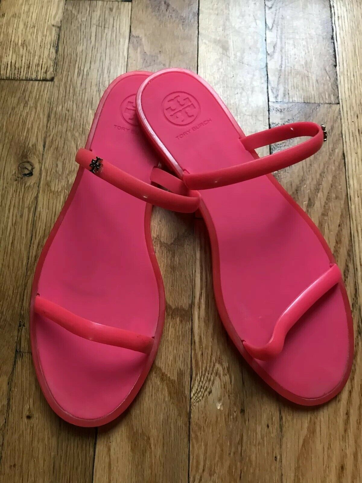 TORY BURCH Hot Pink Jelly Slip On Slippers Size 8