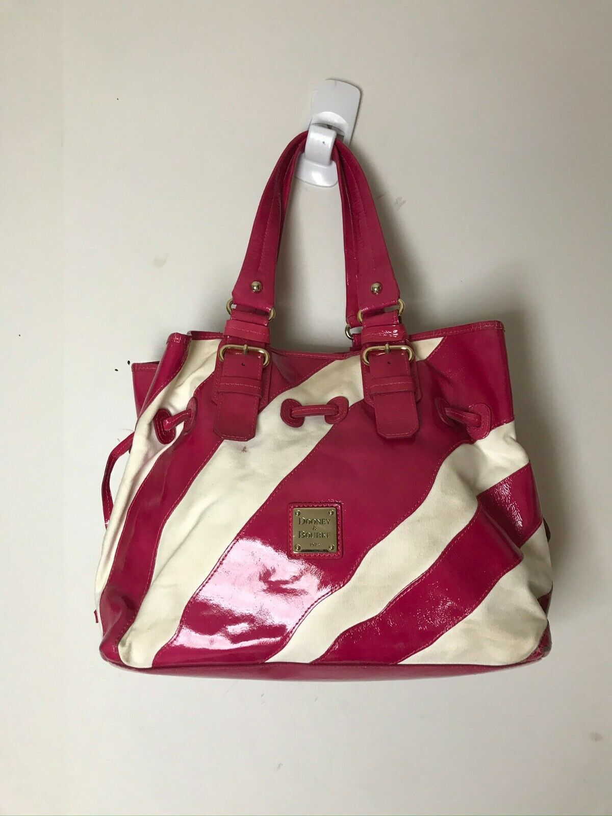 Dooney & Bourke Red/White Large Tote Bag