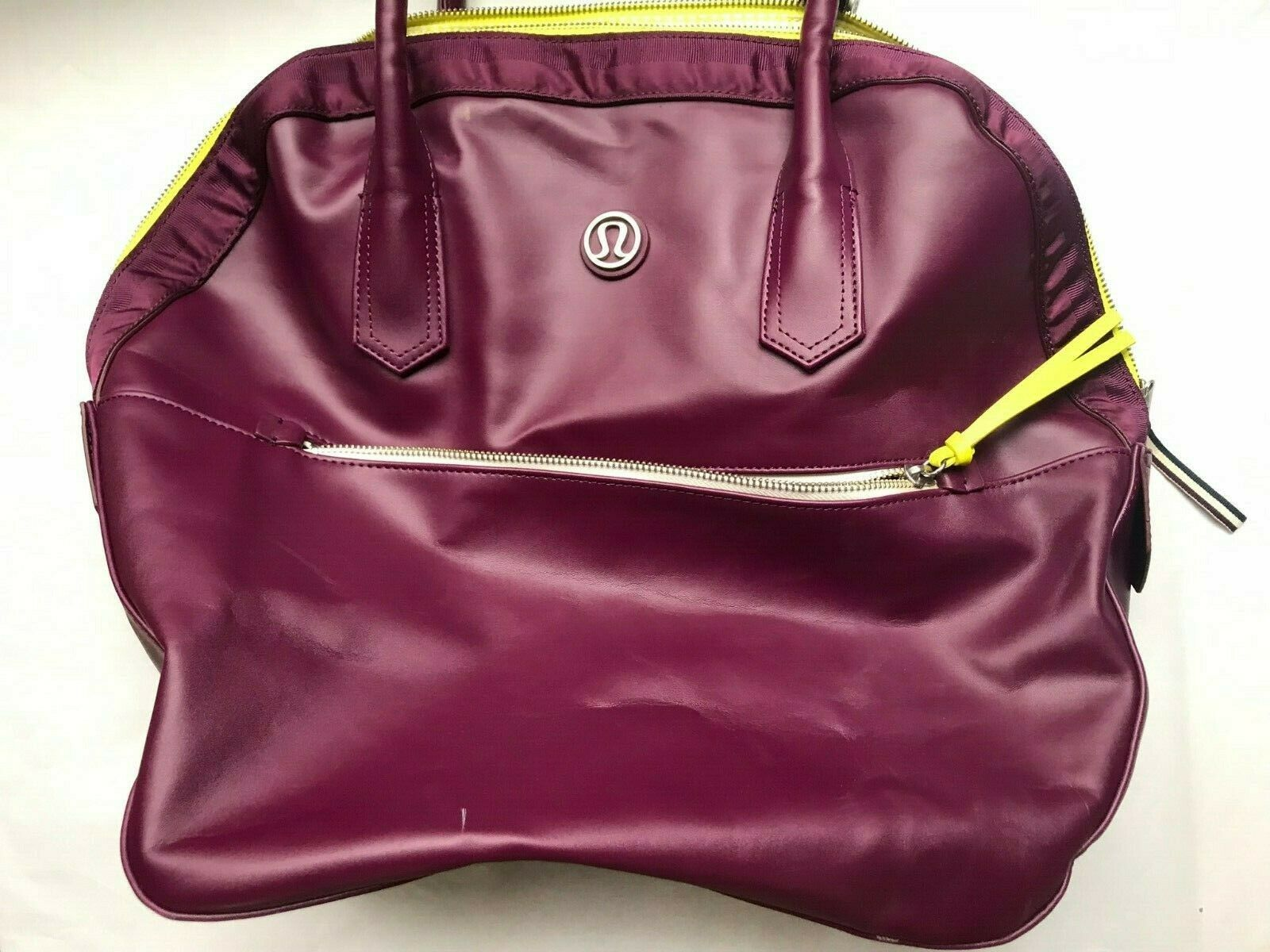 Lululemon Large Gym/School/Work Purple Poly Shoulder Bag