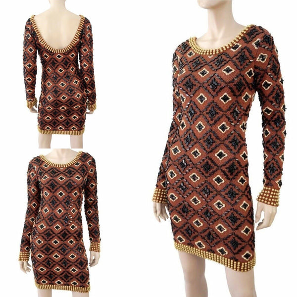 OPENING CEREMONY Beaded Linen Dress Medium