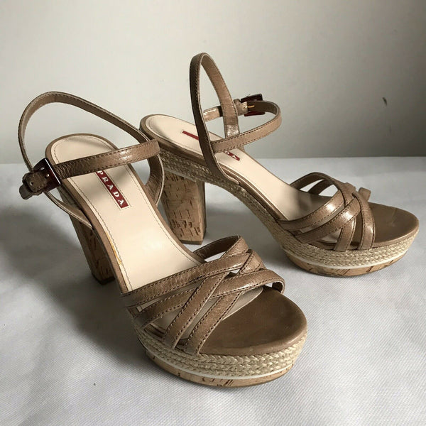 PRADA High Heel Sandals 37