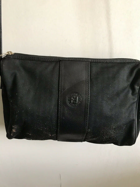 FENDI Vintage Small Black Stripe Crossbody Bag