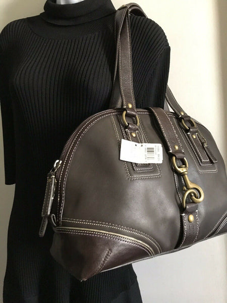 NWT! COACH  Large Brown Leather Shoulder Bag