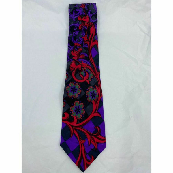 New! MICKEY MOUSE Disney Neck Tie Blue Red 100% Silk Handmade