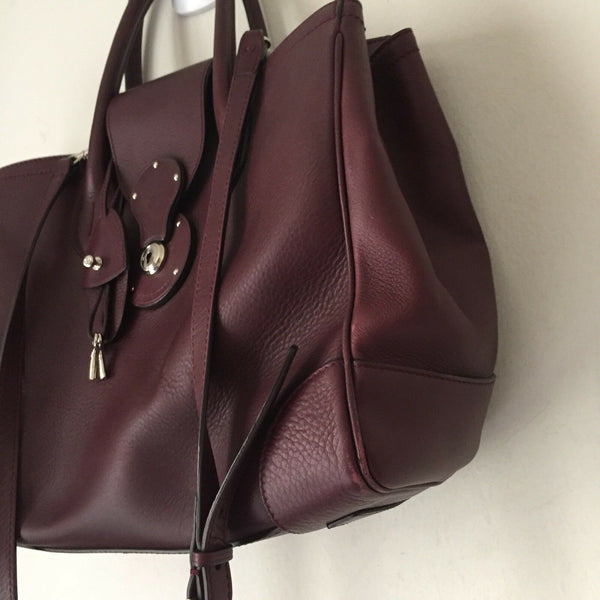 RALPH LAUREN Leather Tote Msrp $4,000