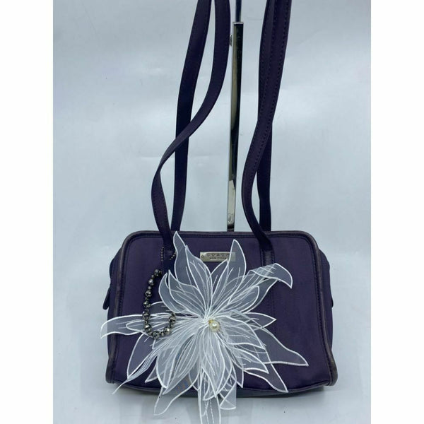 Coach Handbag Purple Customized with Applique Crystal and Detachable Accessory