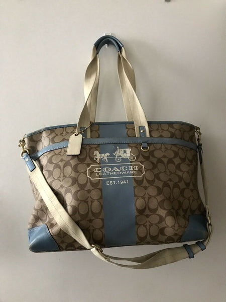 COACH XL Weekend/ Diaper Coated Canvas Bag