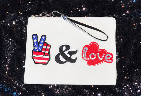 PEace and Love Wristlet