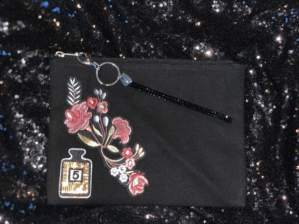 Rose and Perfume Wristlet