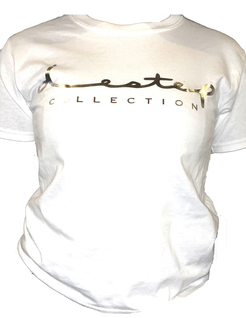 "Silver Metallic ""Destep Collection"" tee"