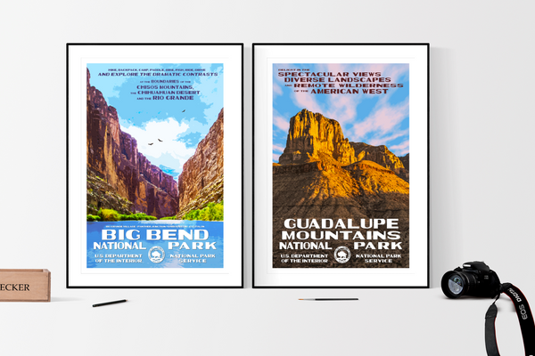 Big Bend National Park & Guadalupe Mountains National Park Posters Released