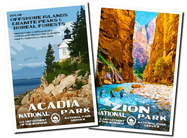 Acadia-Zion | National Park Posters