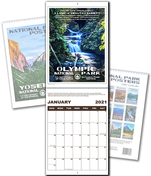 National Park Posters Calendar | National Park Posters