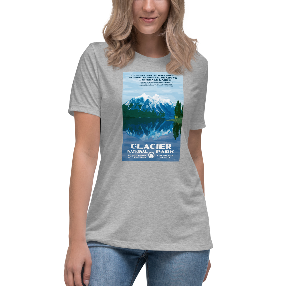 Glacier National Park With Text