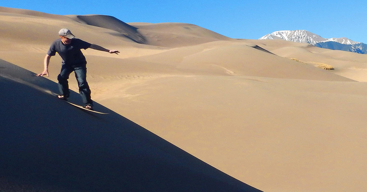 Great Sand Dunes - Sand Sledding | National Park Posters