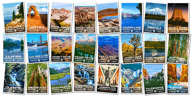 National Park Stickers | National Park Posters