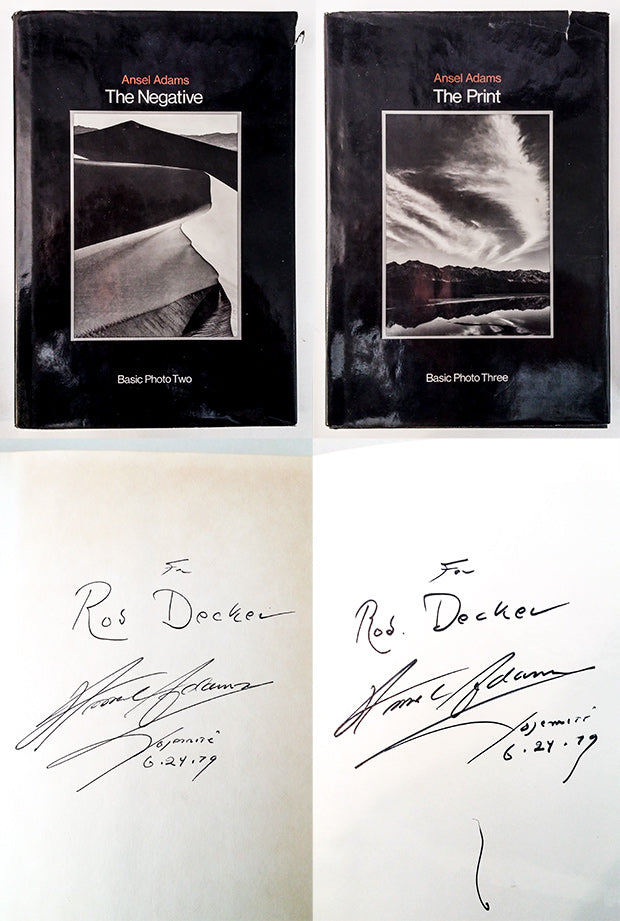 Ansel Adams Autographs for Rob Decker, National Park Posters