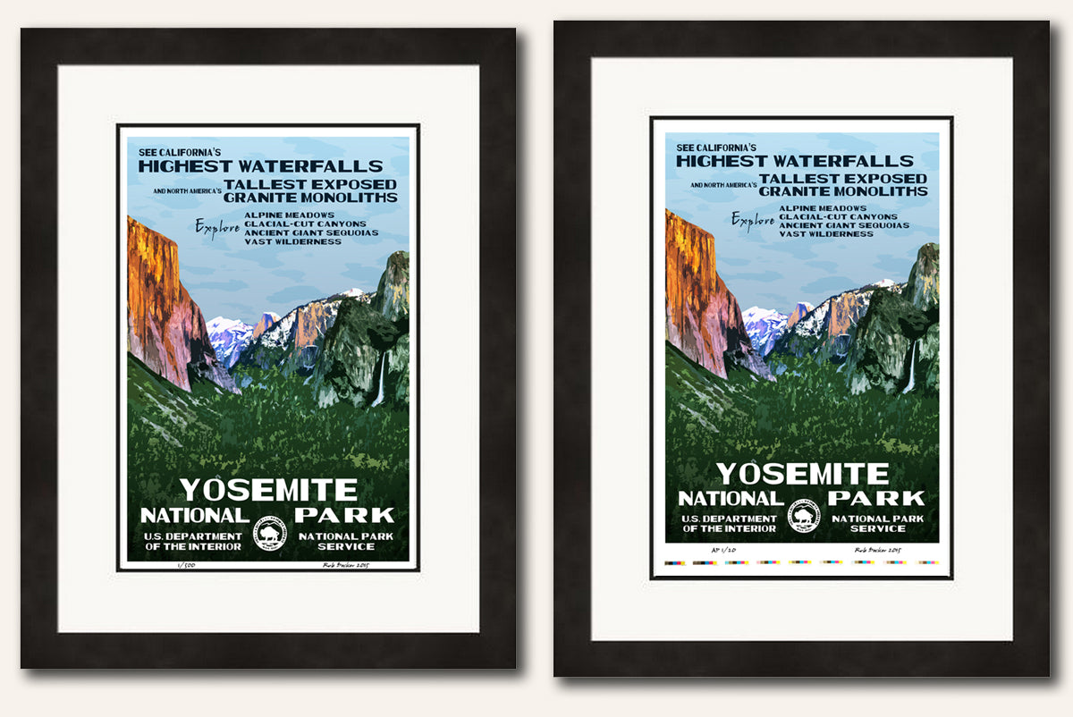 Framed Examples | National Park Posters
