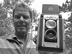 Rob and his first camera, a Kodak Duraflex