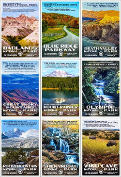 2016 Centennial National Parks Poster Collection National Park Posters