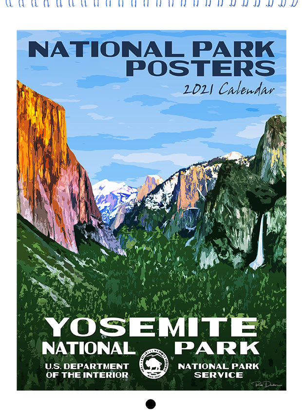 National Park Posters Calendar Upgrade