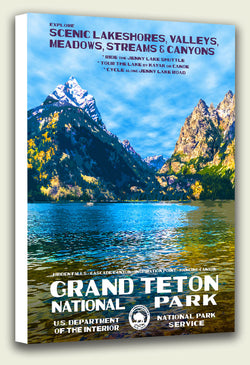 Grand Teton National Park Jenny Lake Canvas Print