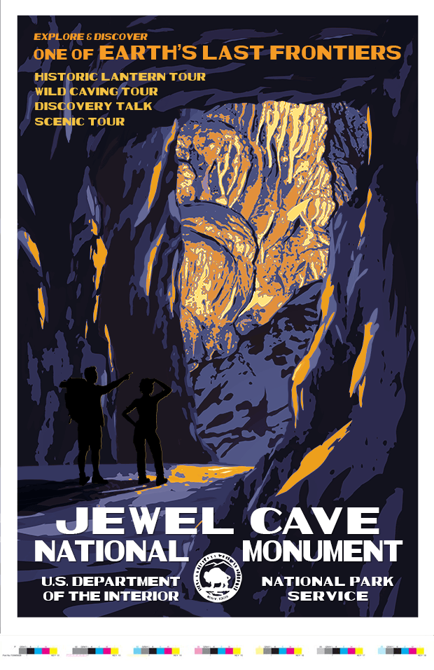 Jewel Cave National Monument Artist Proof