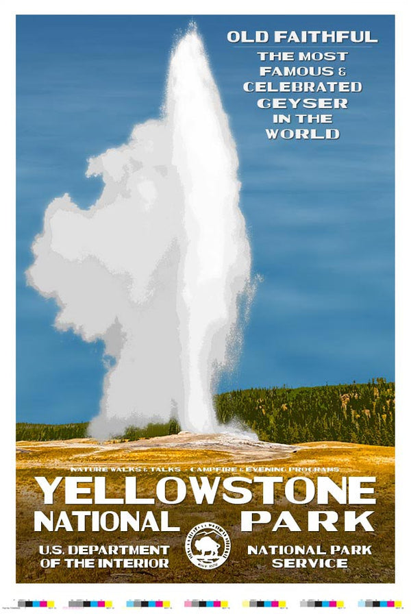 Yellowstone Old Faithful Artist Proof