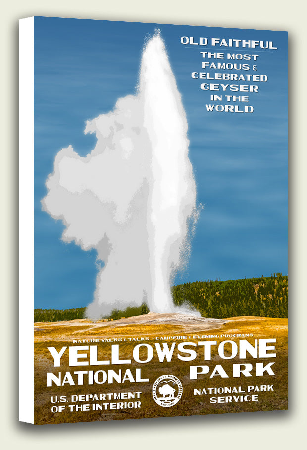 Yellowstone National Park Old Faithful Canvas Print