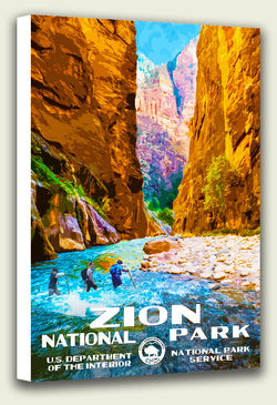 Zion National Park - The Narrows - Canvas Print
