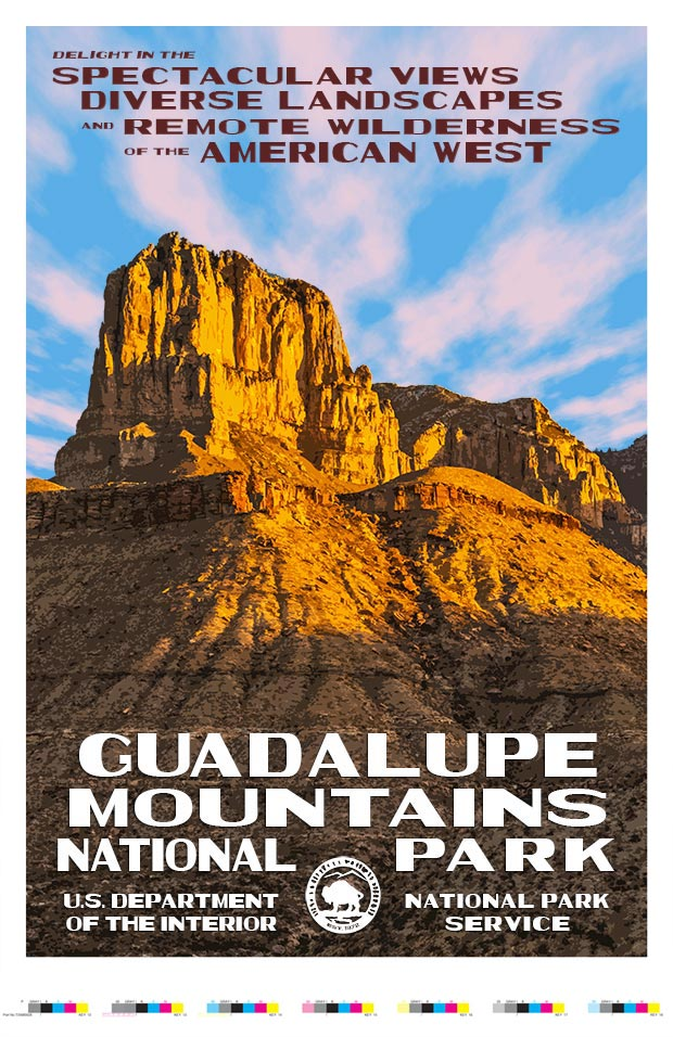 Guadalupe Mountains National Park Artist Proof