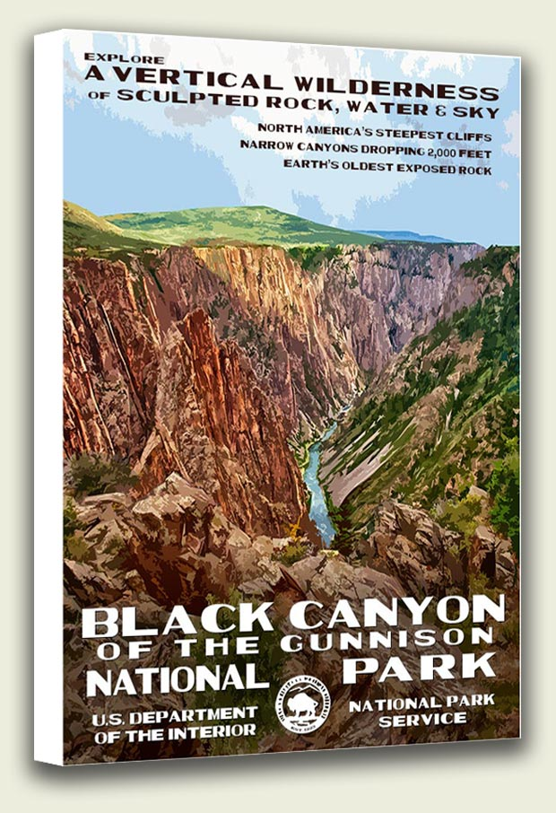 Black Canyon National Park Canvas Print
