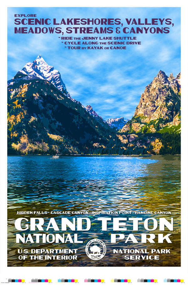Grand Teton National Park Artist Proof - Jenny Lake