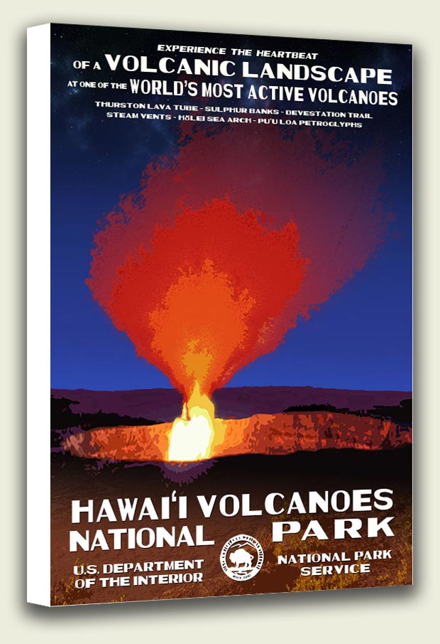 Hawaii Volcanoes National Park Canvas Print