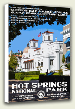 Hot Springs National Park Canvas Print