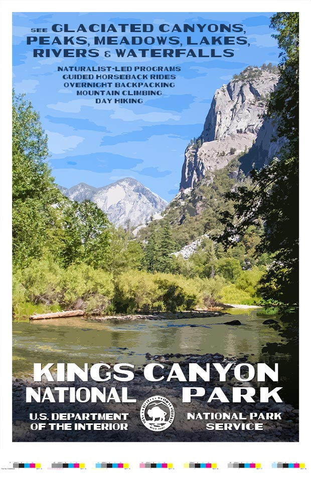 Kings Canyon National Park Artist Proof