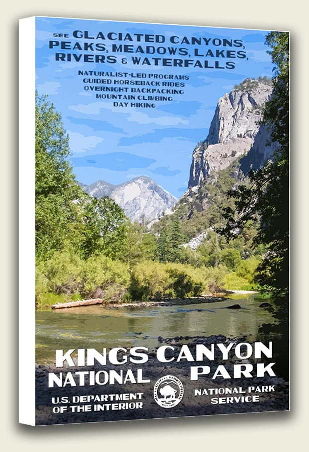 Kings Canyon National Park Canvas Print