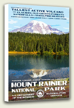 Mount Rainier National Park Canvas Print
