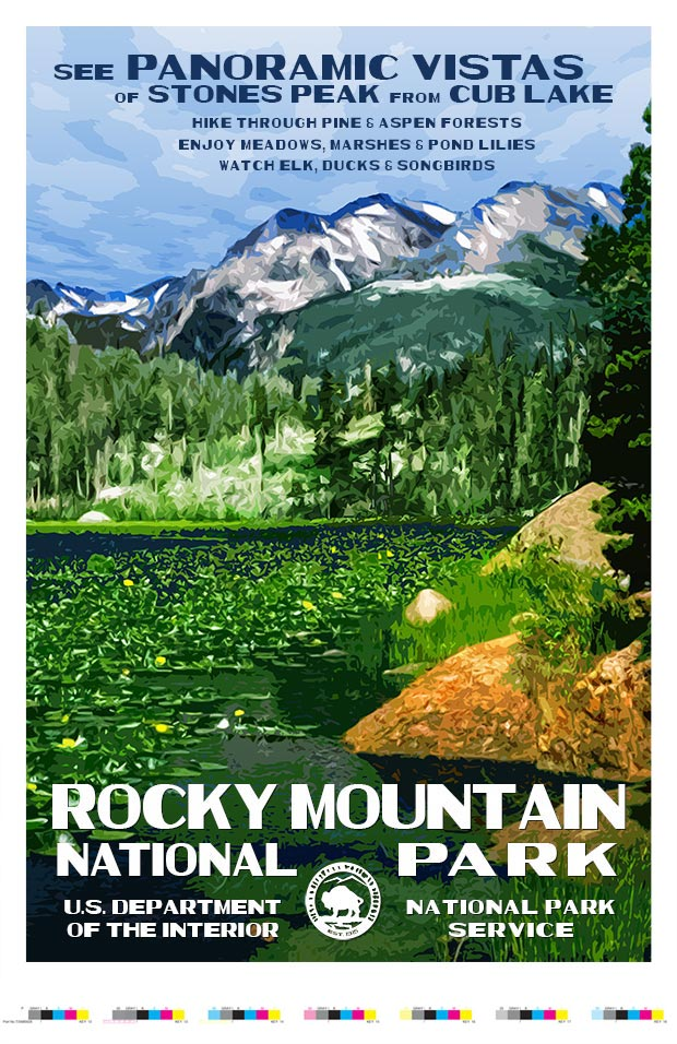 Rocky Mountain (Cub Lake) Artist Proof
