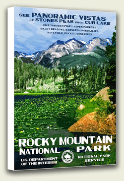 Rocky Mountain National Park (Cub Lake) Canvas Print