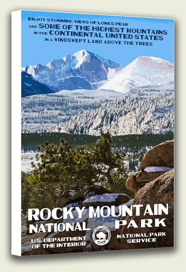 Rocky Mountain National Park Longs Peak Canvas Print