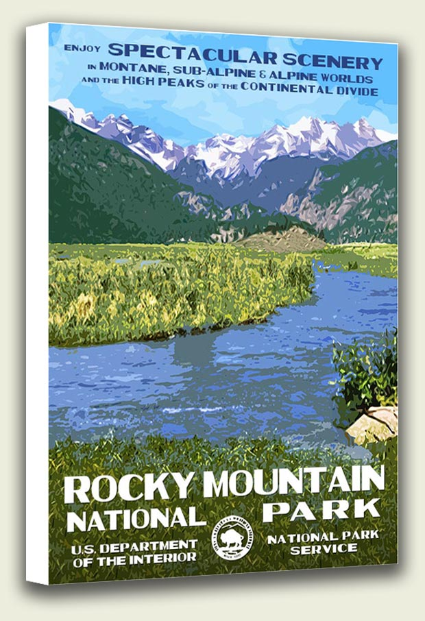 Rocky Mountain National Park Moraine Park Canvas Print