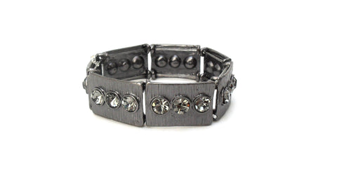 Pulseira Grafite com Strass Black Diamond