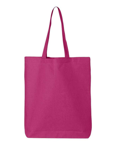11-7l-economical-gusseted-tote-Hot Pink-Oasispromos