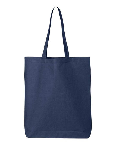11-7l-economical-gusseted-tote-Navy Blue-Oasispromos