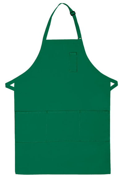 three-pocket-butcher-apron-w-pencil-pocket-ds-224-Kelly Green-Oasispromos